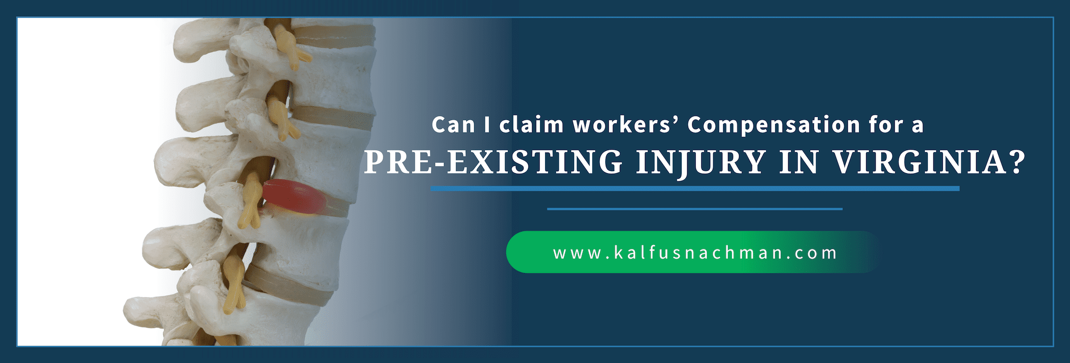Can I Claim Workers' Compensation For A Pre-Existing Injury in Virginia?